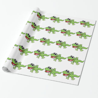 Cartoon Gecko Wrapping Paper