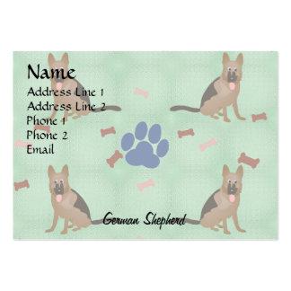Cartoon German Shepherd Dog Pack Of Chubby Business Cards