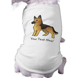 Cartoon German Shepherd Pet T-shirt