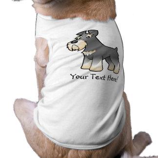 Cartoon Giant/Standard/Miniature Schnauzer Pet T-shirt