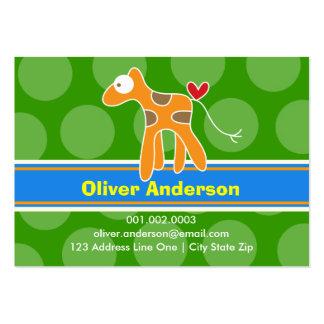 Cartoon Giraffe Kid Photo Profile Calling Card Business Card