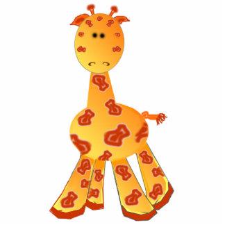 Cartoon Giraffe Ornament or Sculpture Cut Out