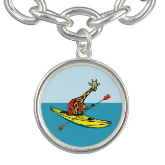 Cartoon giraffe sea kayaking bracelets