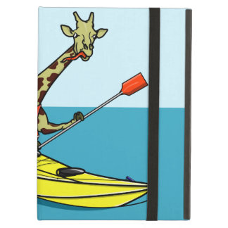 Cartoon giraffe sea kayaking case for iPad air
