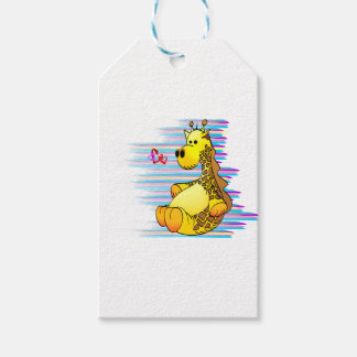 Cartoon Giraffe Stuffed Toy Artistic Pack Of Gift Tags