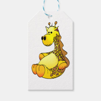Cartoon Giraffe Stuffed Toy Refined Pack Of Gift Tags