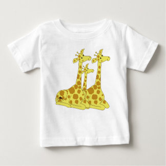 Cartoon Giraffes Baby T-Shirt