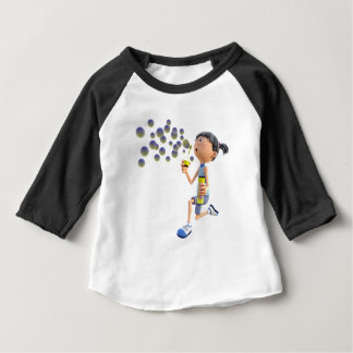 Cartoon Girl Blowing Bubbles Baby T-Shirt