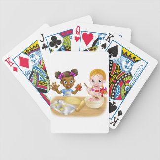 Cartoon Girl Chefs Bicycle Playing Cards