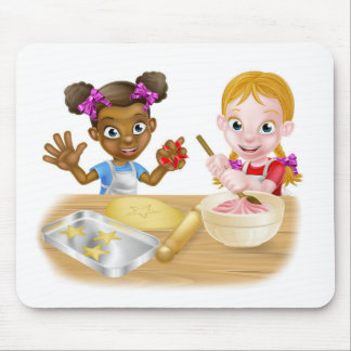 Cartoon Girl Chefs Mouse Pad