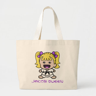Cartoon Girl Karate Tote Bag