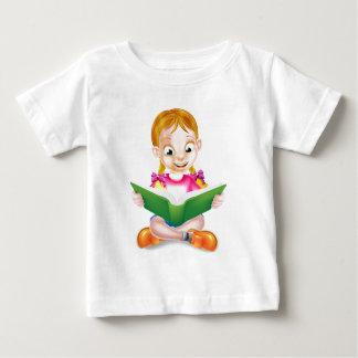 Cartoon Girl Reading Amazing Book Baby T-Shirt