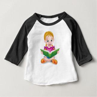 Cartoon Girl Reading Book Baby T-Shirt