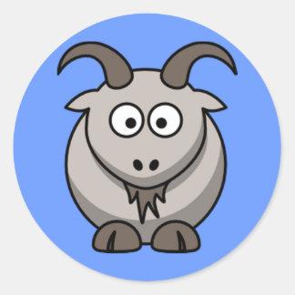 Cartoon Goat Round Sticker