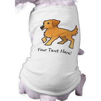 Cartoon Golden Retriever Doggie Tshirt