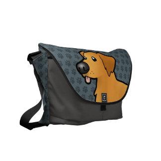 Cartoon Golden Retriever Messenger Bag