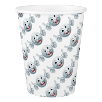 Cartoon Golf Ball Character Paper Cup