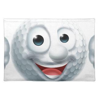 Cartoon Golf Ball Character Placemat