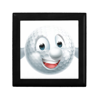 Cartoon Golf Ball Mascot Gift Box