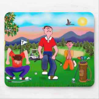 Cartoon Golfers - For the Love of Golf Mouse Pad