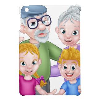 Cartoon Grandparents and Grandchildren Cover For The iPad Mini