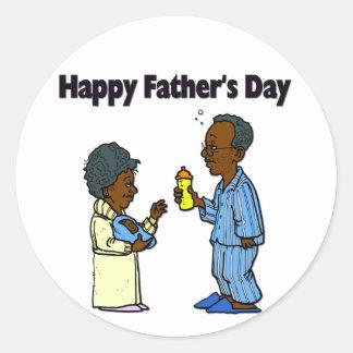 Cartoon Grandparents - Happy Father's Day Round Sticker