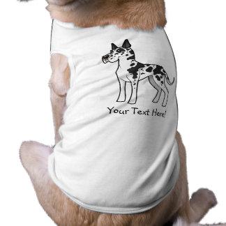 Cartoon Great Dane Doggie Tshirt