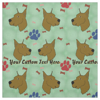 Cartoon Great Dane - Personalized Fabric