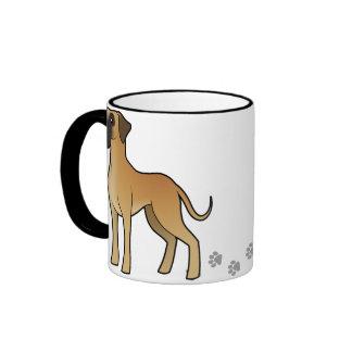 Cartoon Great Dane Ringer Mug