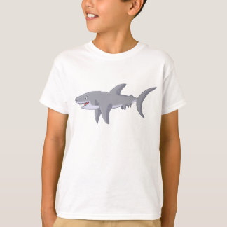 Cartoon Great White Shark T-Shirt