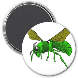 Cartoon green and lime hornet wasp bee magnet