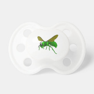 Cartoon green and lime hornet wasp bee pacifier