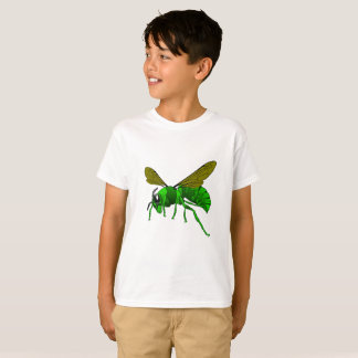 Cartoon green and lime hornet wasp bee T-Shirt