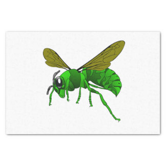 Cartoon green and lime hornet wasp bee tissue paper