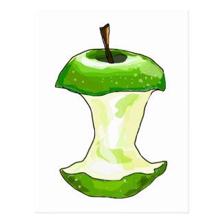 Cartoon Green Apple (Granny Smith) Apple Core Postcard
