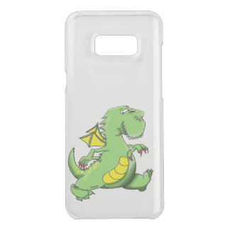 Cartoon green dragon walking on his back feet uncommon samsung galaxy s8 plus case