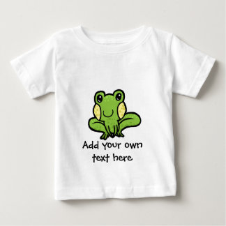 cartoon green speckled frog customisable baby T-Shirt