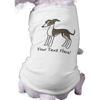 Cartoon Greyhound / Whippet / Italian Greyhound Dog Tee Shirt