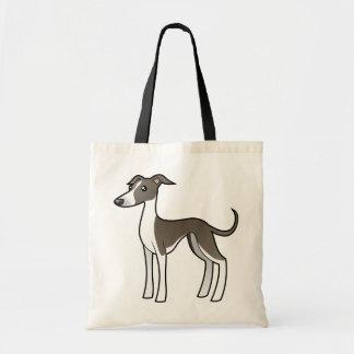 Cartoon Greyhound / Whippet / Italian Greyhound Tote Bag