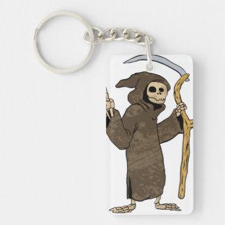 cartoon grim reaper. Double-Sided rectangular acrylic keychain