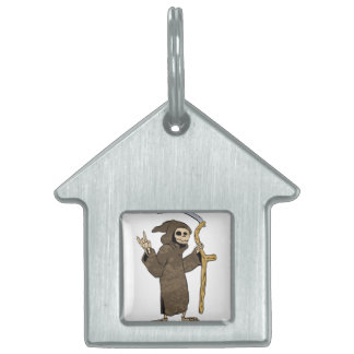cartoon grim reaper. pet tags