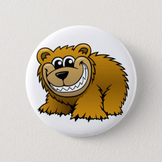 Cartoon Grizzly Bear 2 Inch Round Button