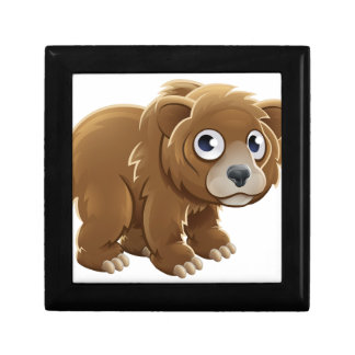 Cartoon Grizzly Bear Animal Character Jewelry Box