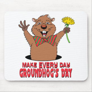 Cartoon Groundhog Mouse Pad