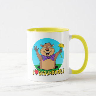 Cartoon Groundhog Mug