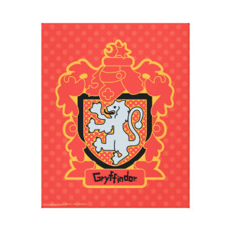 Cartoon Gryffindor Crest Canvas Print
