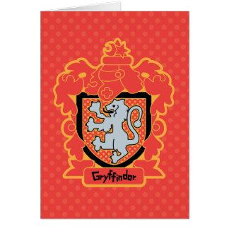 Cartoon Gryffindor Crest Card