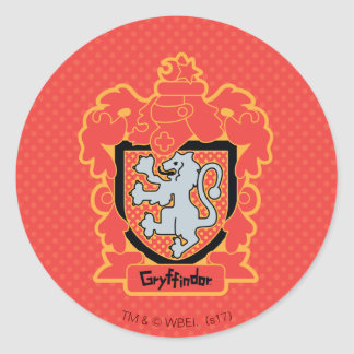 Cartoon Gryffindor Crest Classic Round Sticker