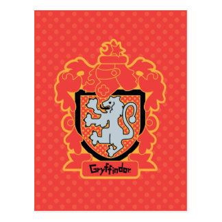 Cartoon Gryffindor Crest Postcard