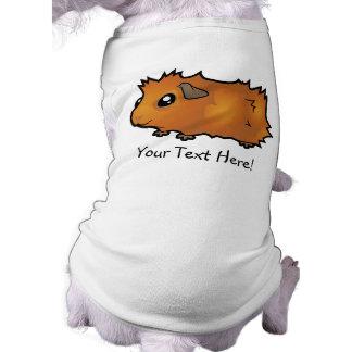 Cartoon Guinea Pig (scruffy) Doggie Tshirt
